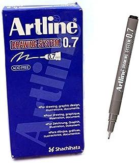 Artline EK237 Drawing System Pen 0.7 mm - Black (Pack of 12)