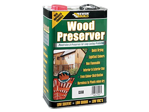 Sika EVBLJFG05 Solvent Free, Quick Drying, Interior and Exterior Wood Preserver Fir Green 5 Litre
