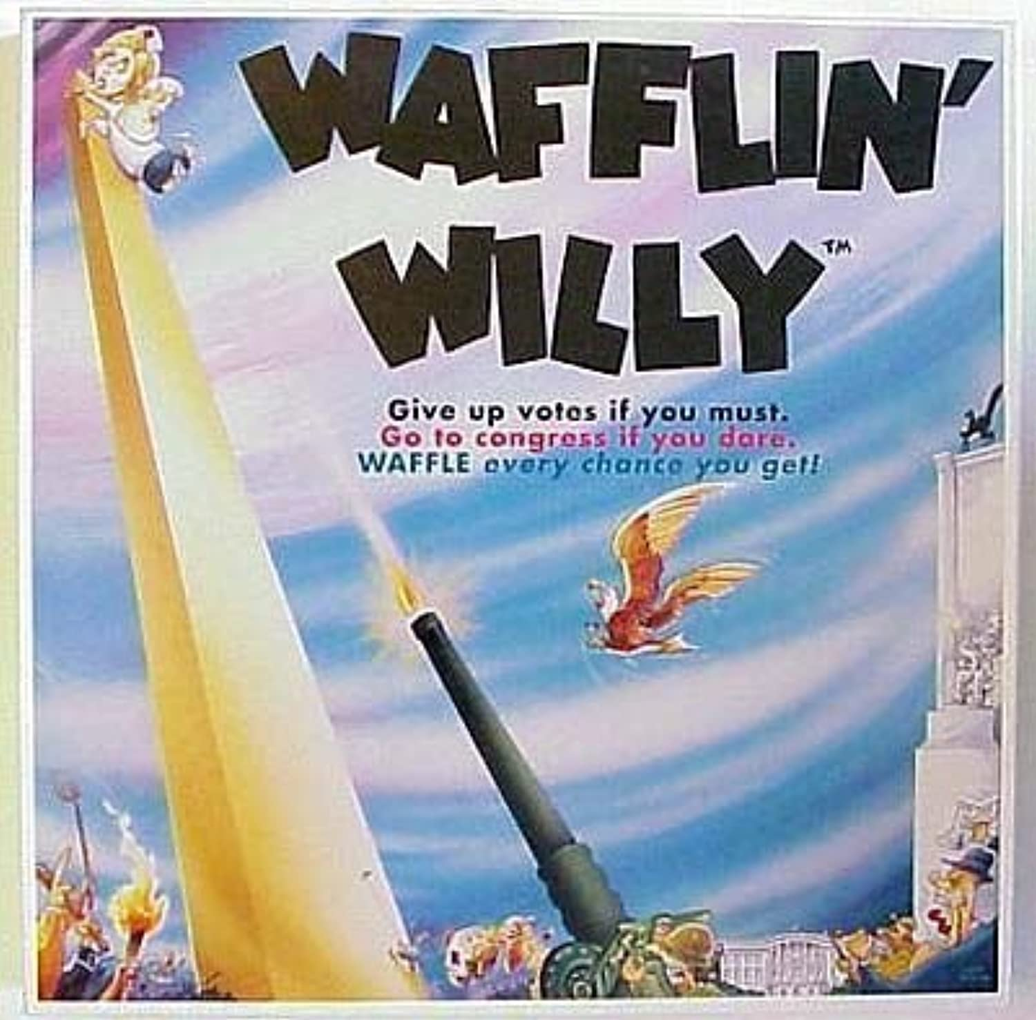 Wafflin Willy Waffling Bill Clinton Board Game by Right Angle