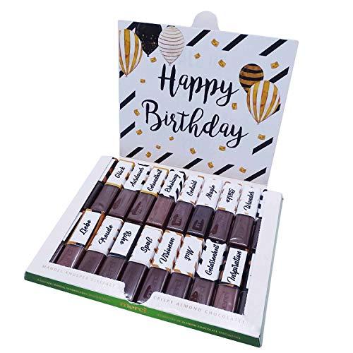 Aufkleber-Set passend für Merci Schokolade zum Geburtstag mit vorgedruckten und blanko Aufklebern I selbstklebend I kreative Geschenk-Idee I Unkompliziert und Individuell I dv_786
