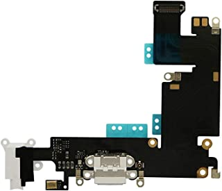 COHK USB Charging Port Dock Flex Cable with Microphone and Headphone Audio Jack Replacement for iPhone 6 Plus 5.5 inchs White