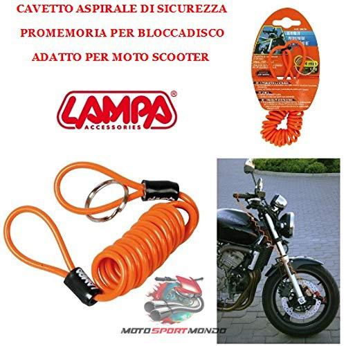 Oplaadkabel voor motorfiets REMINDER LAMPA 90616 Ø 4 mm, lengte 150 cm oranje
