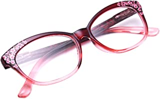 Aiweijia Ladies Reading glasses comfortable glasses Flower pattern frame Eyewear for Women