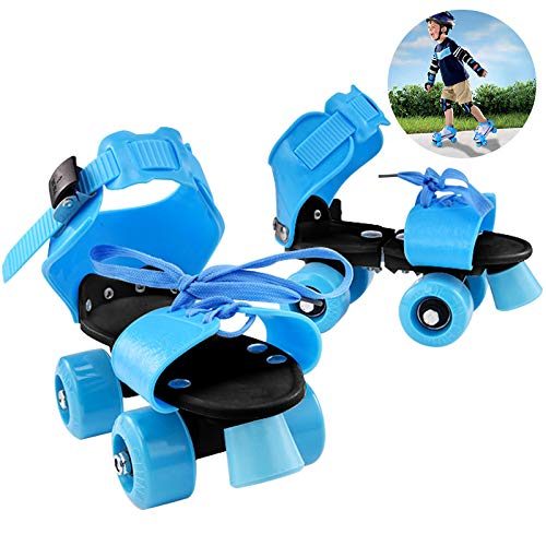 Yuanj Patins à roulettes Unisexe, Bleu, Rollers Patins réglables pour Débutant/Tout-Petits/Jeunesse, Cadeau Parfait pour Les Enfants