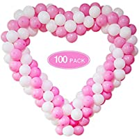 100-Pack Pink White Balloon Garland Arch Kit