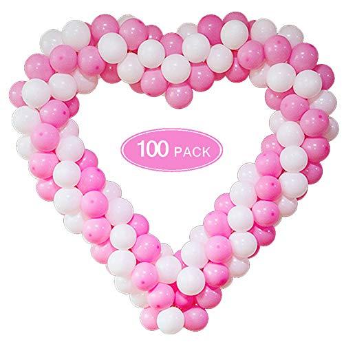 (Promo Diskon 50%) Kit Lengkungan Garland Balon Merah Muda & Putih $ 5.50