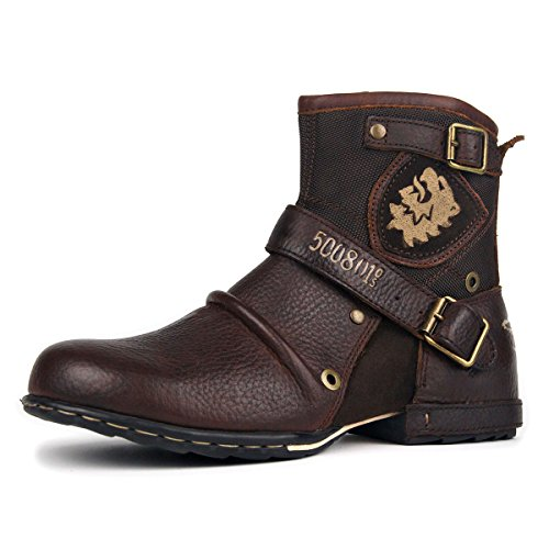 ZONE 5008 Casual N OTTO Boots Boots for Chukka 1 Men Zipper up Leather Shoes by Fashion OZ edCrxBo