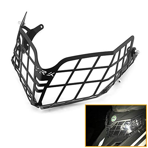 QIDIAN Stainless Steel Motorcycle Front Headlight Guard Headlamp Protector Grille Covers for Benelli TRK502X TRK 502 X 2018-2020 Modify Accessories