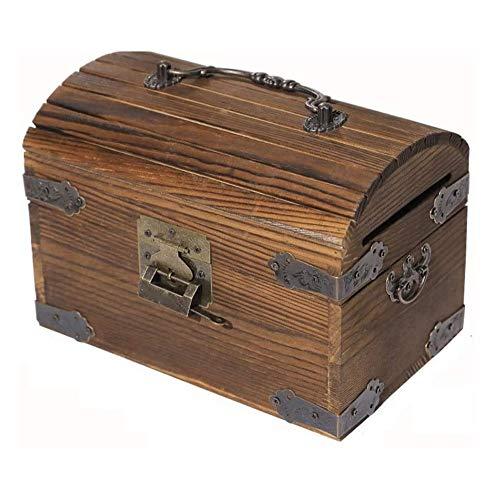 JJZXT Hucha de Madera Maciza Regalos de la Moneda del Ahorro Efectivo Caja de Dinero de Juguete for niños for niños Inicio colección Decorativa Caja de Dinero
