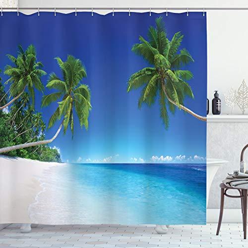Ambesonne decoración para el hogar de tela de poliéster cortina de ducha de baño sets