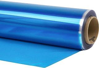 "40"" Inch 100' Ft Gift Wrap - Cello/Cellophane Wrap Roll. (Blue)"