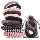 Pink Spiral Hair Ties for Woman Girl No Crease Coil Hair Coils Mixed...