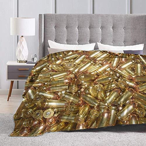 AEMAPE Throw Blanket Bullets Dickes Teppichstuhlbett für Männer Gemütliche Mattenpolsterabdeckung für den Sommer 60 'x 50'