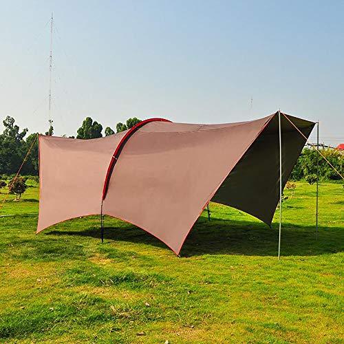 YANGSANJIN volledig waterdicht tuinhuisje tent tent luifel strand luifel met 4ps zijpanelen en poeder gecoate ijzeren frame voor outdoor bruiloft tuin partij BBQ camping, bruin