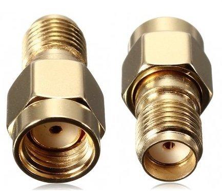 BlueBeach® 2 Stück Adapter Konverter RP-SMA Stecker (Nein Pin) zu SMA Buchse (Nein Pin) für Antenne Koaxial