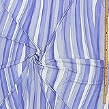 kawenSTOFFE Jerseystoff Interlock Viskose Blau Weiß Wasser