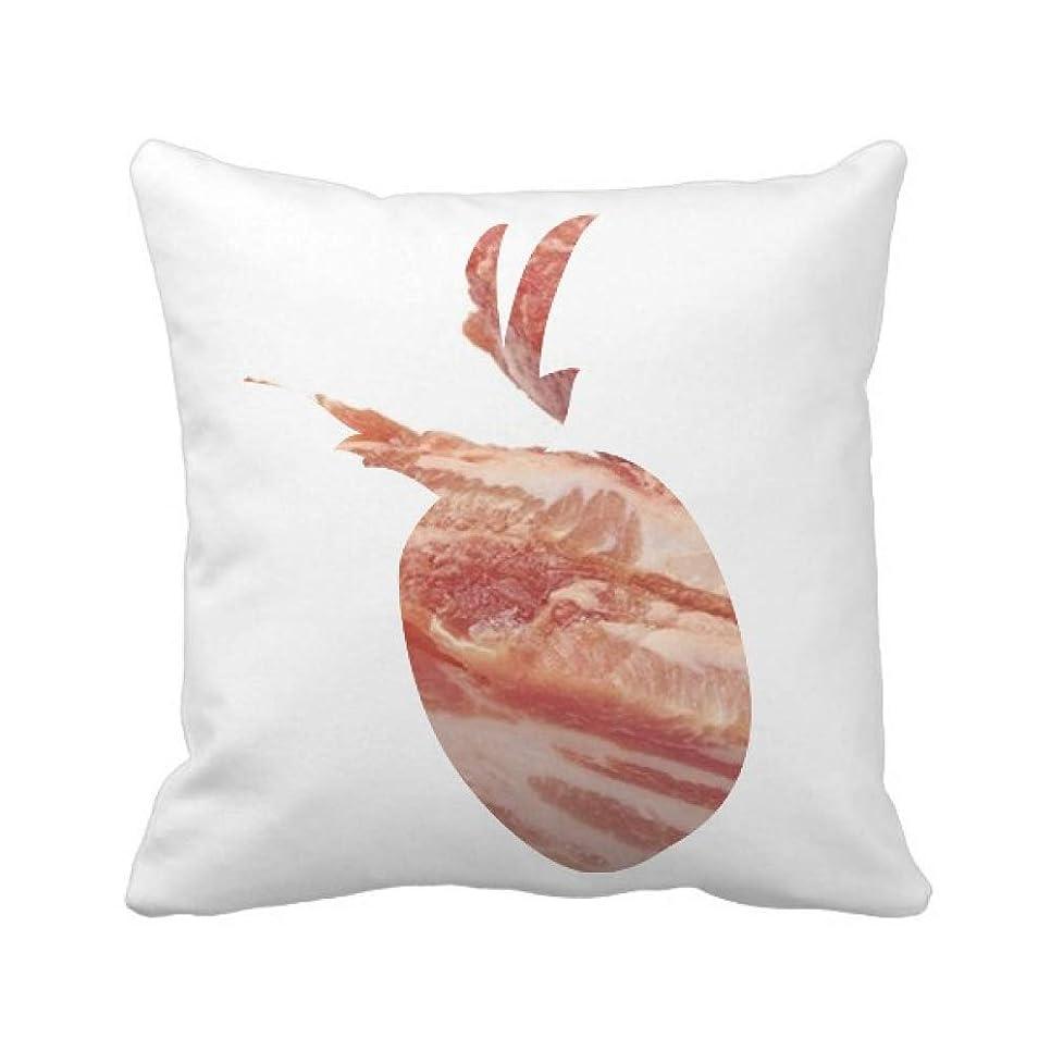 かんたん再生可能奪う太った豚の生肉の食感 パイナップル枕カバー正方形を投げる 50cm x 50cm