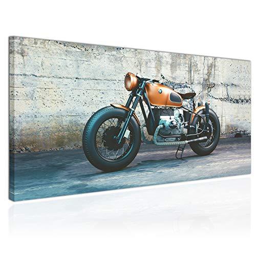 Topquadro XXL Wandbild, Leinwandbild 100x50cm, BMW Motorräder, Motoren - Panoramabild Keilrahmenbild, Bild auf Leinwand - Einteilig