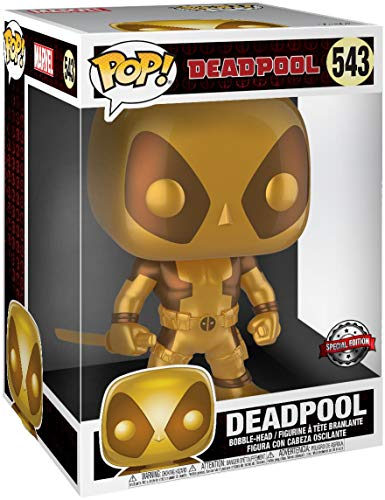 Funko Deadpool Super Sized Pop! Vinyl Figure Thumbs Up Gold Deadpool 25 cm Mini