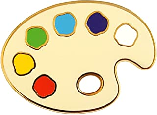 Pinsanity Painter Palette Enamel Lapel Pin