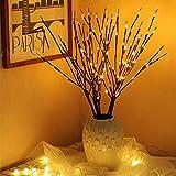 Udefineit 5 unidades de 100 bombillas LED de color blanco c谩lido, luces de rama, funciona con pilas, ramas de 谩rbol iluminadas artificiales, luces LED brillantes para decoraci贸n de fiestas de Navidad