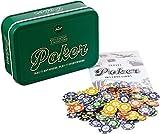 Travel Poker Funtime Compacto Portátil Bolsillo Tamaño Juego Estaño Set Regalo