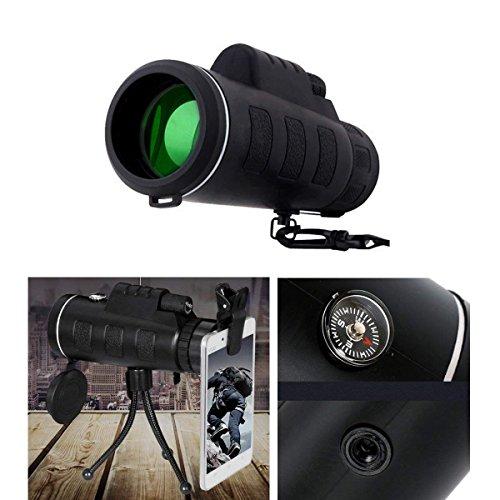 Telescopio Monocular 40 X 60 HD Zoom Óptico Telescopio Impermeable y a Prueba de Niebla para la observación de pájaros, Turismo, Caza, Acampada y Concierto