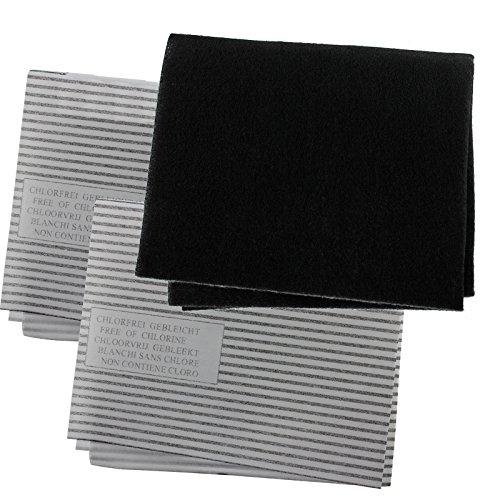 spares2go Dunstabzugshaube Carbon Grease Filter Kit für Kaminöfen Küche Abluftventilator