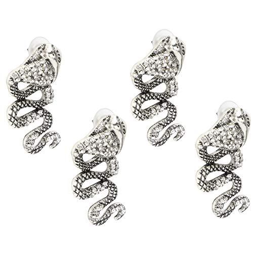 2 par hängande örhängen metall dingla diamanter legering örhängen gåva till älskade kvinnor flickor accessoarer, Cobra formad