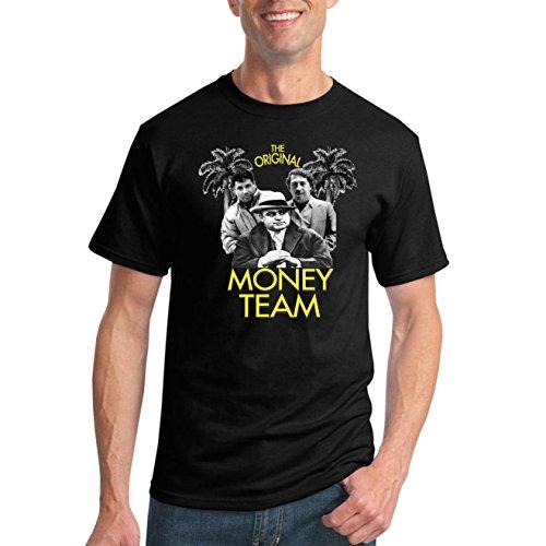 Original Money Team | Cocaine Cowboys El Chapo Pablo Narcos | Mens Pop Culture Graphic T-Shirt, Black, X-Large