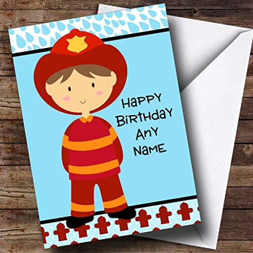 Brandweerman Gepersonaliseerde Verjaardagskaart
