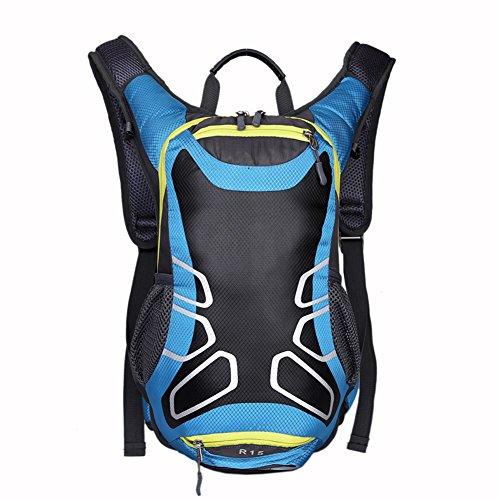 Mountaintop 15.7LSac à dos de randonnée Travel Daypack Sac à vélo avec sac de basket-ball (bleu)