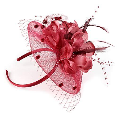 Sombrero Bibis Boda Mujer Peinado Novia Fascinador Elegante Nupcial Horquilla Malla Velo...