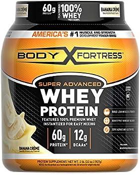Body Fortress 2lbs Super Advanced Whey Protein Powder (Banana Cream)