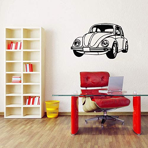 Retro auto vinyl muurtattoo machine auto muursticker decoratie vinyl muurkunst muur passagier behang