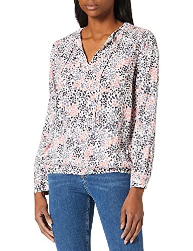 TOM TAILOR Damen 1023984 Feminine Bluse, 26283-White Multicolor Flower Design, 38