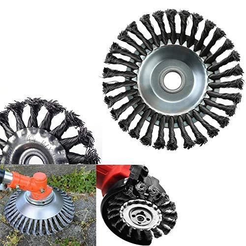 GJPQ Stahldraht-Rad-Unkraut-Bürsten-Garten-Rasenmäher-Gras-Esser-Trimmer-Schneider-Werkzeug (125)
