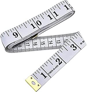 Measure Tape Body, 1pcs Dual Sided Fabric Sewing Measure Tape Soft Tailor Waist Chest Measuring Tape, 60inch (150cm), White