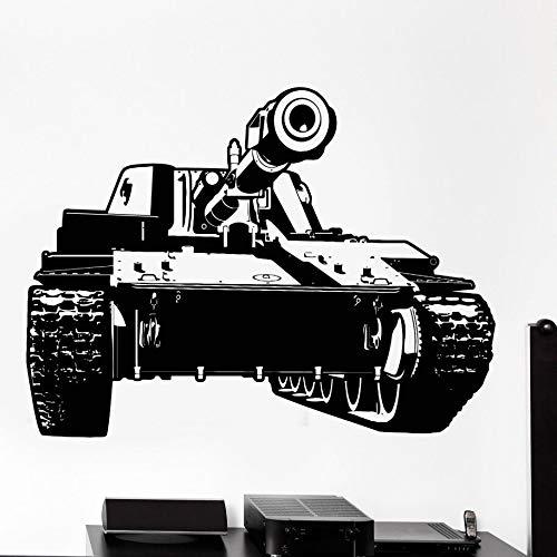 Pegatina de vinilo para pared,equipo del ejército de guerra,calcomanía de pared,tanque,arte militar,pegatina ,vinilo extraíble,pegatina de pared militar A6 76x57cm