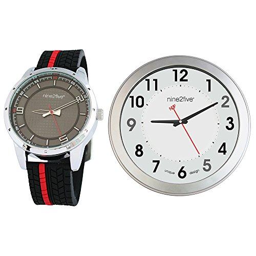 Box Set Nine2five Reloj + Reloj de Pared AAGR07RJNG.SET.3 para hombre
