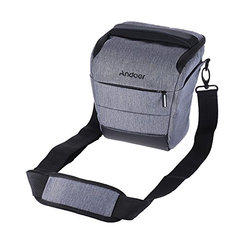 Andoer Portable Bolsa Caso Mochila Caja de la Cámara para 1 Cámara 1 Lente y Accesorios Pequeños para Canon Nikon Sony Fujifilm Olympus Panasonic - Gris