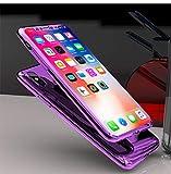 Compatible con iPhone 6/6S Carcasa con Espejo PC Difícil Funda 360 Grados Full Body protección Completa Cover + Vidrio templado Ultra-Delgado Case Protectora Doble Delantera Carcasa integral Funda