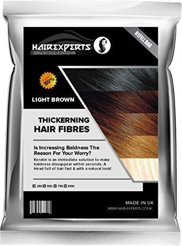 Cheveux ExpertsTM épaississant Fibre Capillaire Fibre Recharge (Perte De Cheveux & Effiler Solution) - Marron, 50g