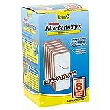 Tetra Whisper Cartucho de filtro de acuario pequeño, 6 unidades, tamaño 'S', filtro de carbono de repuesto