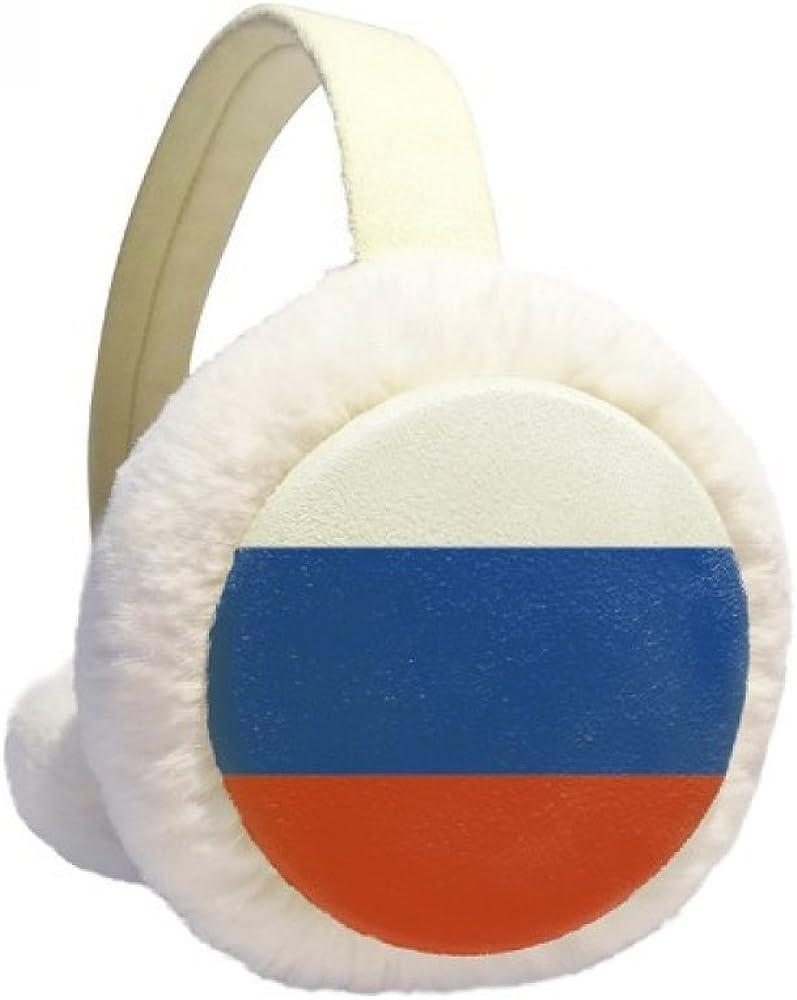 Russia National Flag European Symbol Pattern Winter Earmuffs Ear Warmers Faux Fur Foldable Plush Outdoor Gift