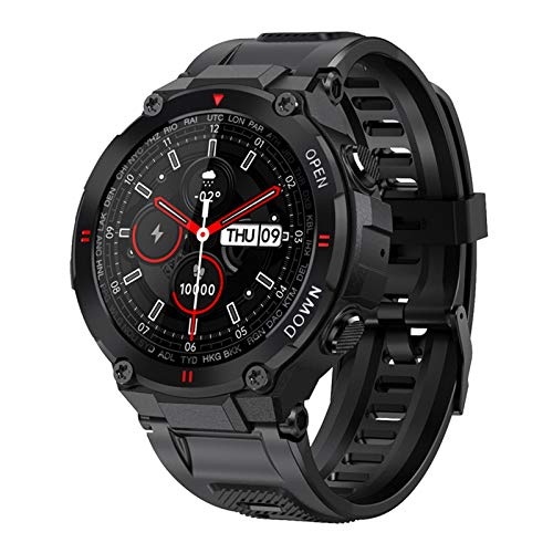 2021 Nuevo K22 Smart Watch Men's Bluetooth Call Multifunción Control De Música Deportes Fitness Fitness Reloj De Alarma Recordatorio El Teléfono Inteligente Es Adecuado para iOS Y Android,B