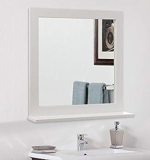 Warmiehomy Simple Wall Mirror Bathroom Mirror Makeup Dressing Mirror Framed Mirror Hanging Hallway Mirror for Bath Living ...