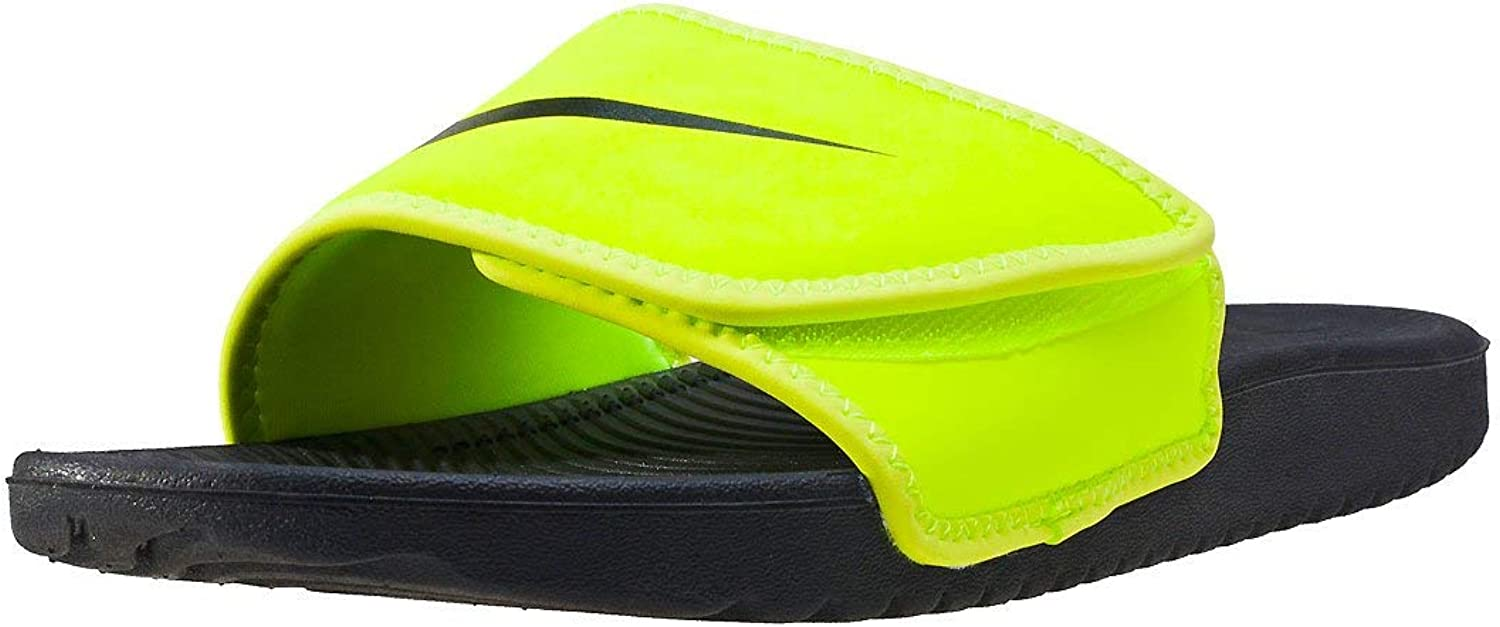 NIKE Boys Kawa Adjust (GS PS), Volt Black, 13C