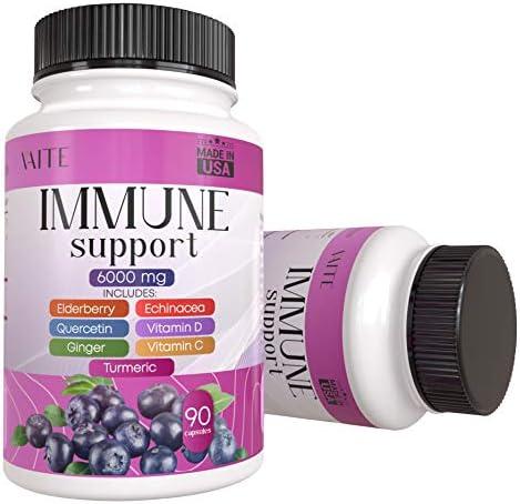 Elderberry Quercetin Turmetic Curcumin Ginger Echinacea Capsules with Vitamin C Vitamin D for product image