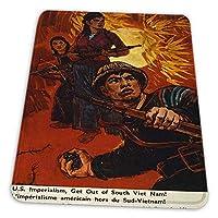 ゲーミングマウスパッド - プロパガンダ戦争ベトナム私たち帝国主義兵士グレネードジャングル マウスパッド おしゃれ ゲームおよびオフィス用/防水/洗える/滑り止め/ファッショナブルで丈夫 25x30cm